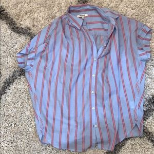 Madewell Striped Tunic Shirt Top Central